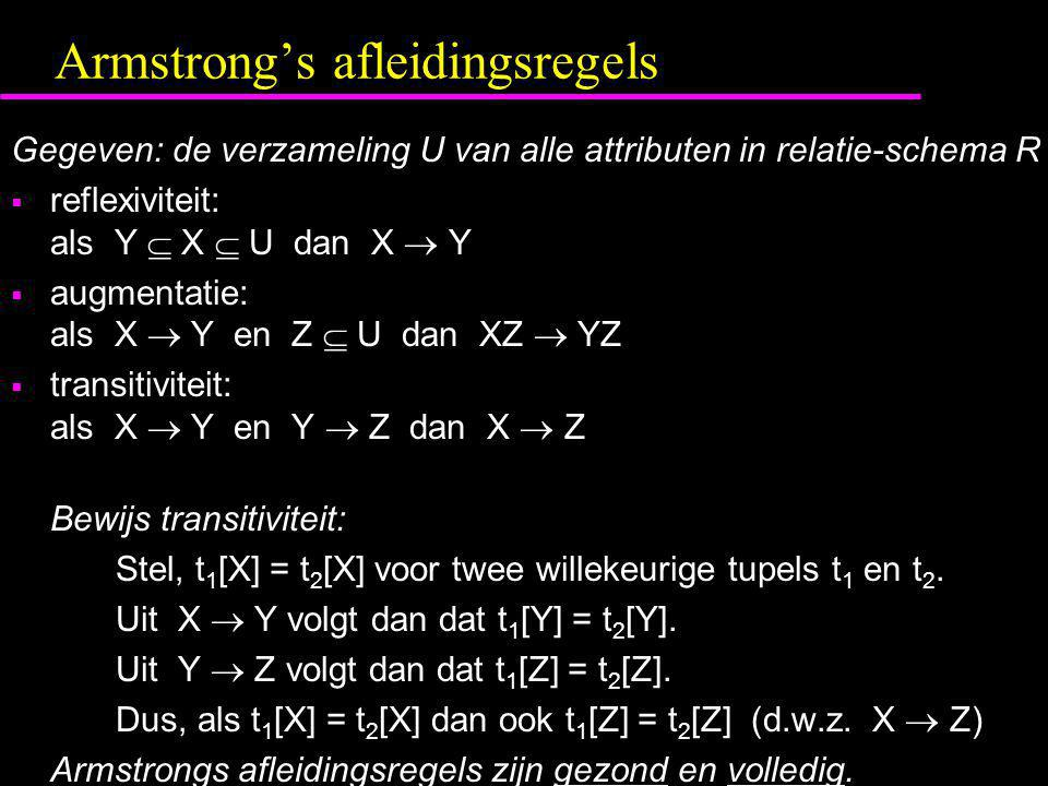 Armstrong's afleidingsregels