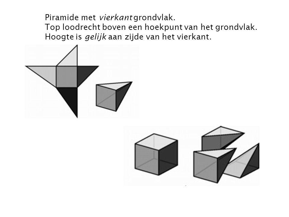 Piramide met vierkant grondvlak
