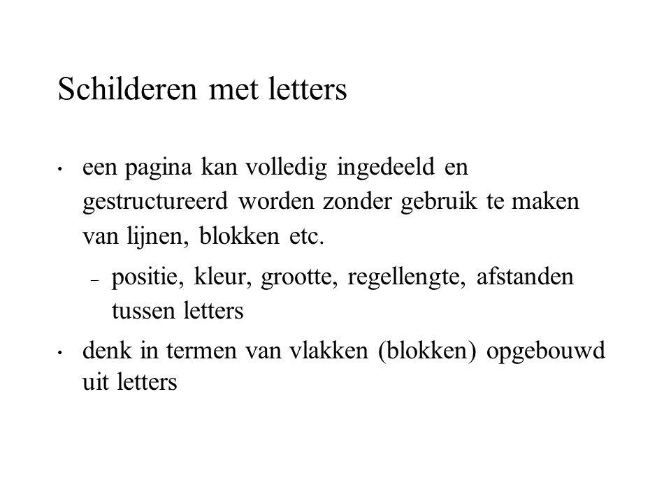 Schilderen met letters