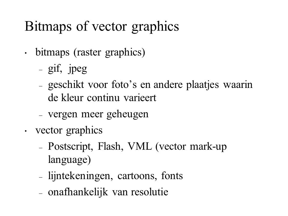 Bitmaps of vector graphics