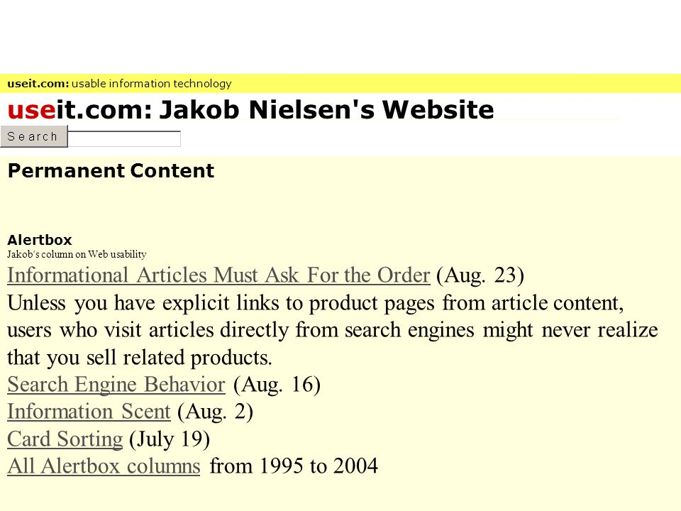 useit.com: Jakob Nielsen s Website