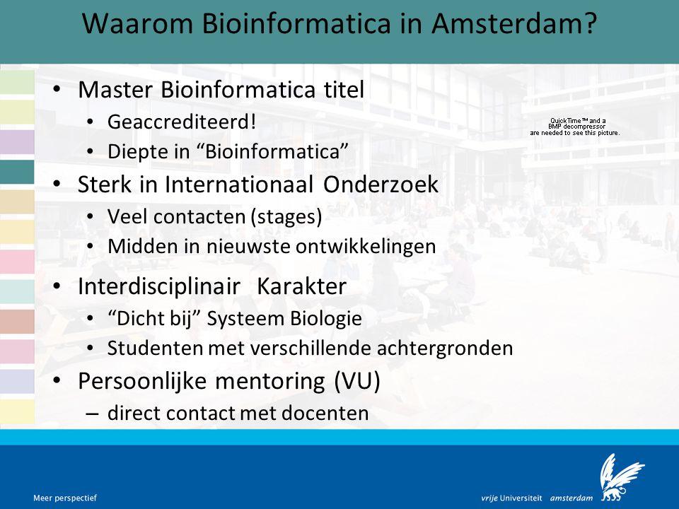 Waarom Bioinformatica in Amsterdam