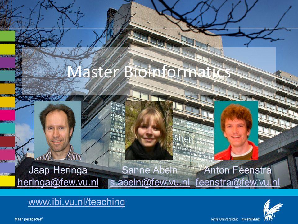 Master Bioinformatics