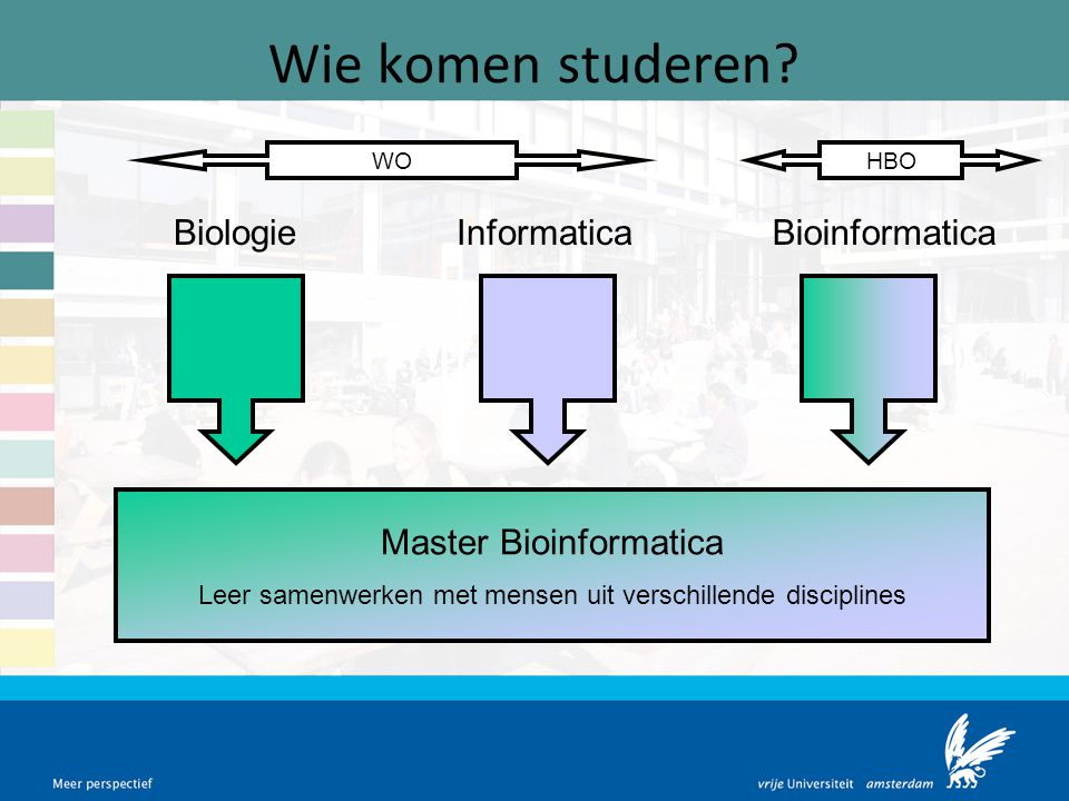 Wie komen studeren Biologie Informatica Bioinformatica