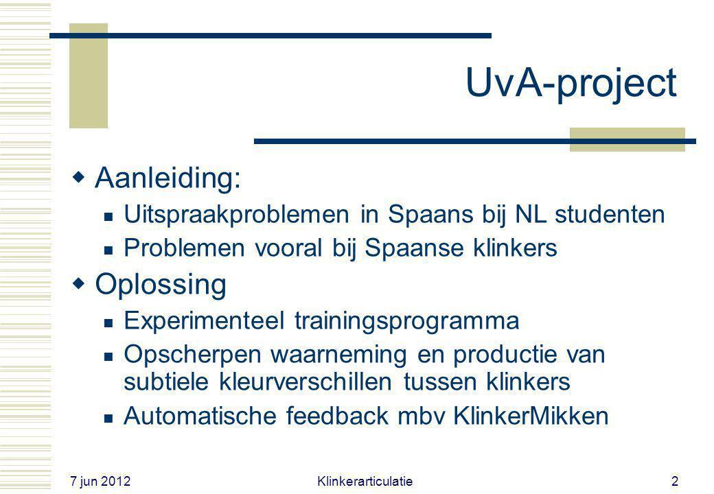 UvA-project Aanleiding: Oplossing