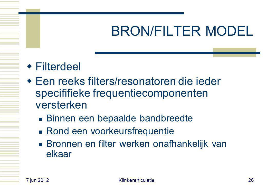 BRON/FILTER MODEL Filterdeel