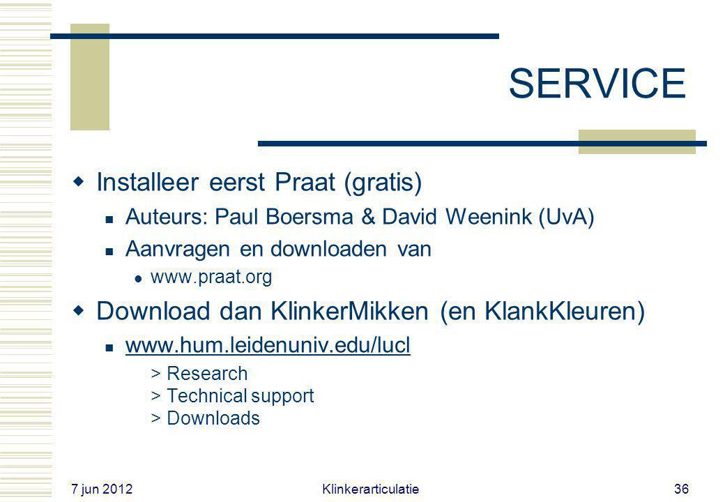 SERVICE Installeer eerst Praat (gratis)