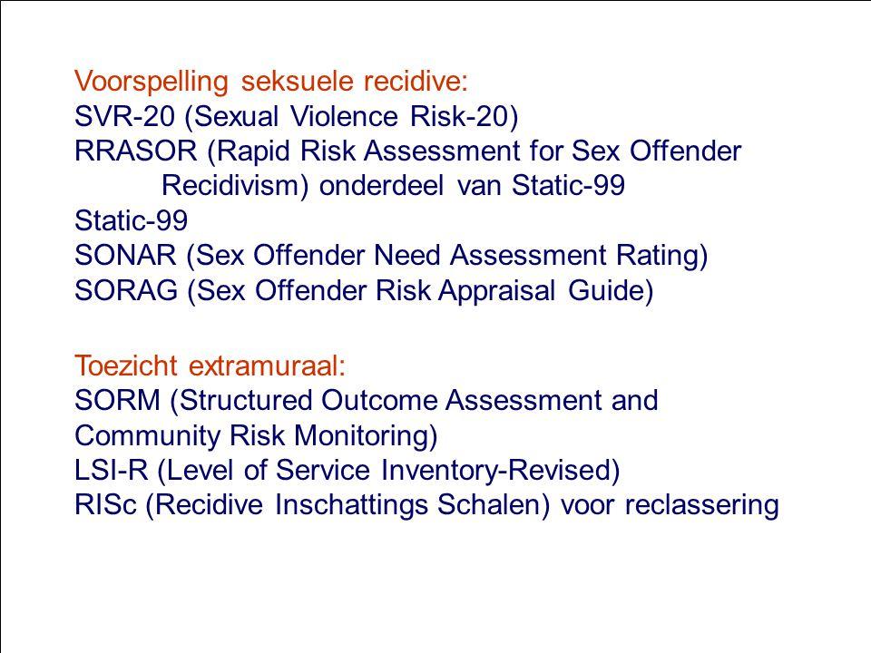 Voorspelling seksuele recidive: