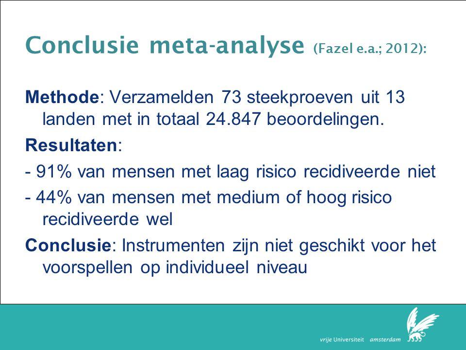 Conclusie meta-analyse (Fazel e.a.; 2012):