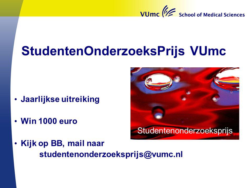 StudentenOnderzoeksPrijs VUmc