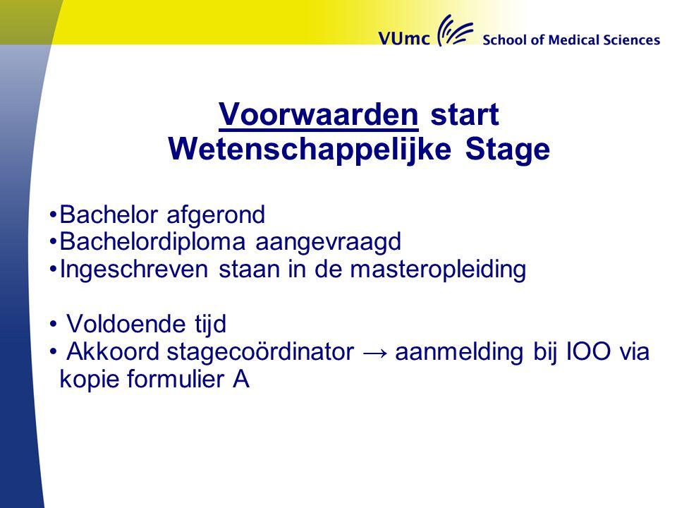 Wetenschappelijke Stage