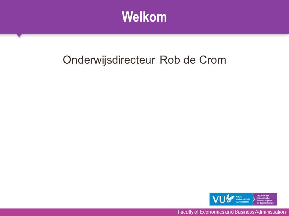 Onderwijsdirecteur Rob de Crom