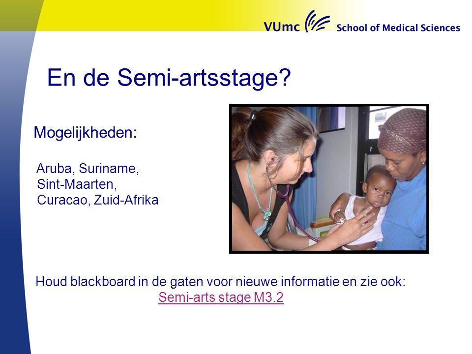 Houd blackboard in de gaten voor nieuwe informatie en zie ook: