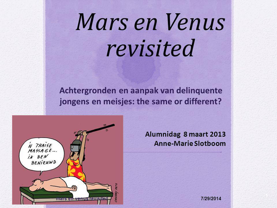 Mars en Venus revisited