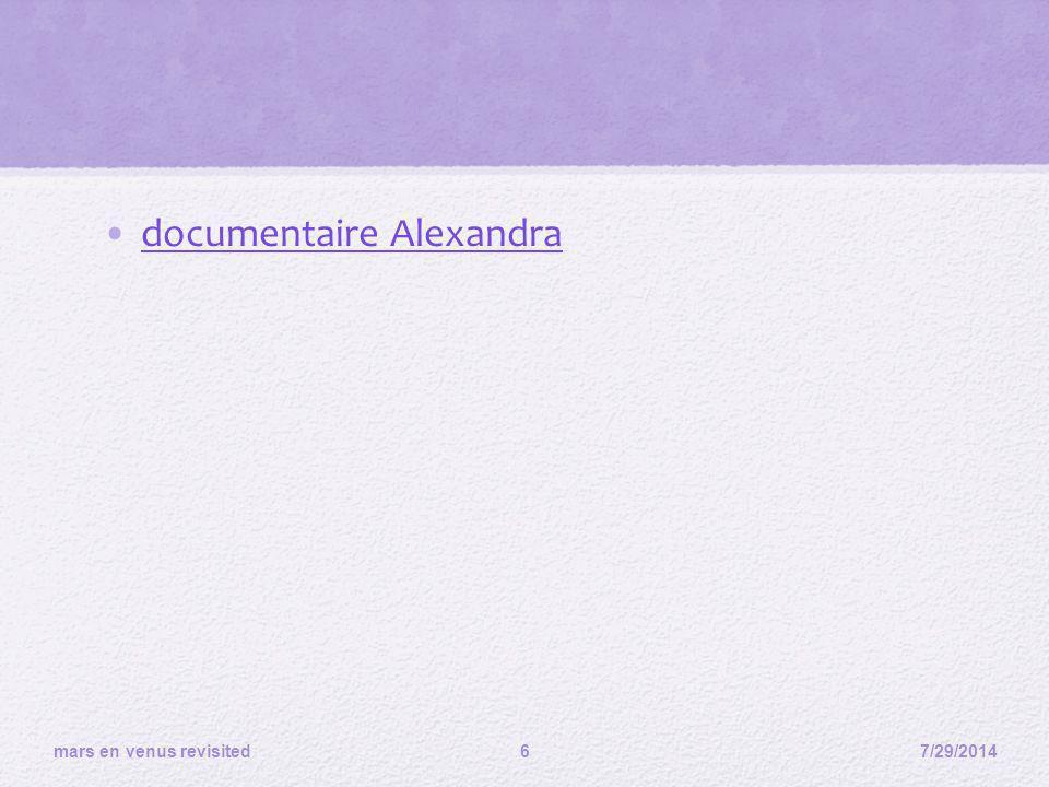 documentaire Alexandra