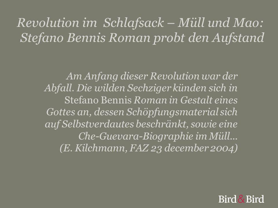 Revolution im Schlafsack – Müll und Mao: Stefano Bennis Roman probt den Aufstand