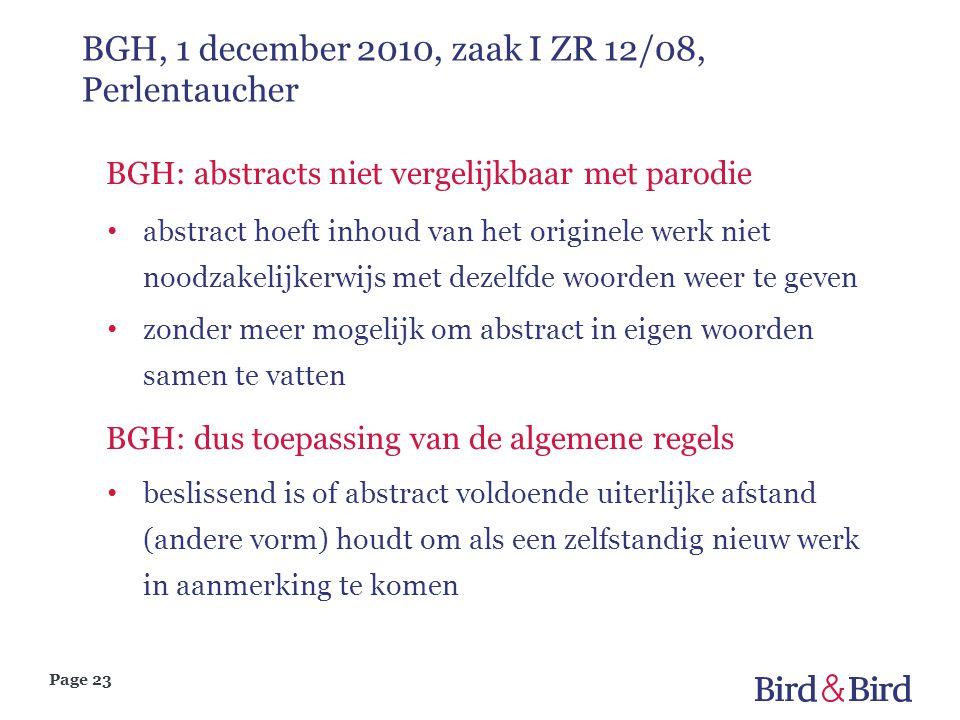 BGH, 1 december 2010, zaak I ZR 12/08, Perlentaucher