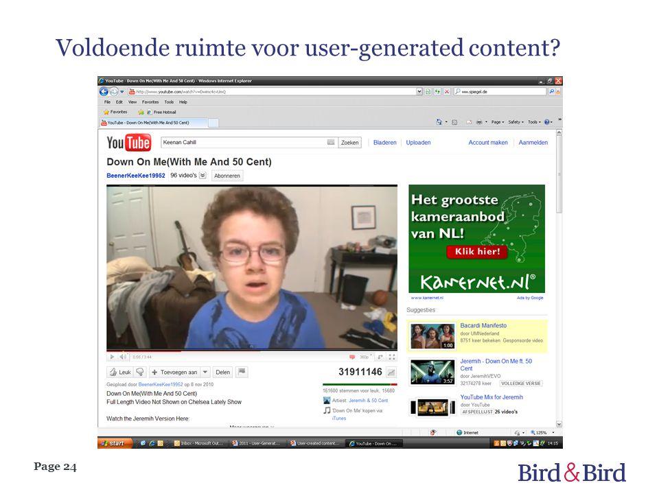 Voldoende ruimte voor user-generated content