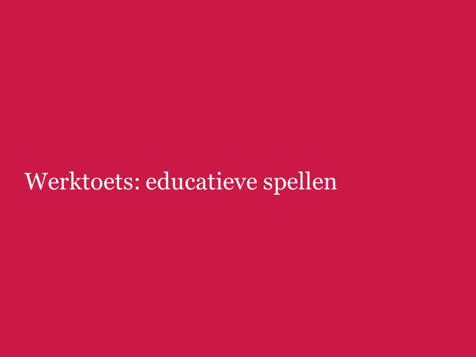 Werktoets: educatieve spellen