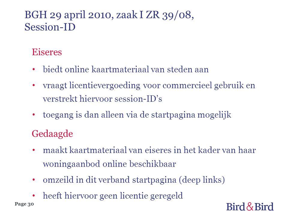 BGH 29 april 2010, zaak I ZR 39/08, Session-ID