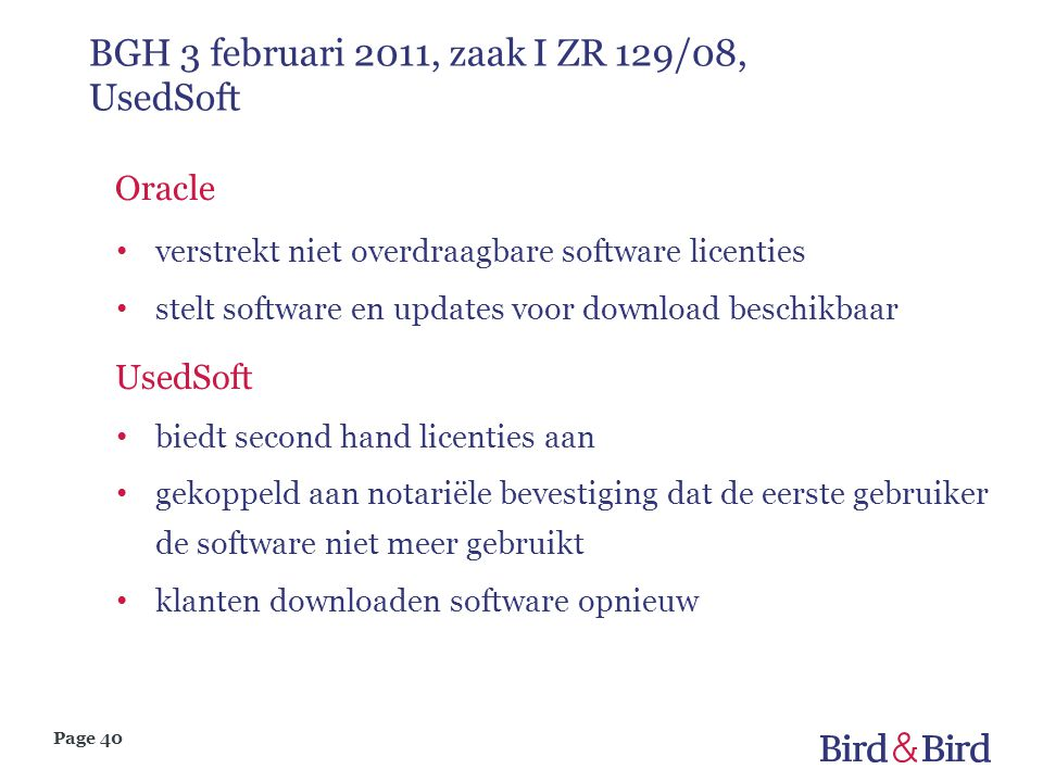 BGH 3 februari 2011, zaak I ZR 129/08, UsedSoft