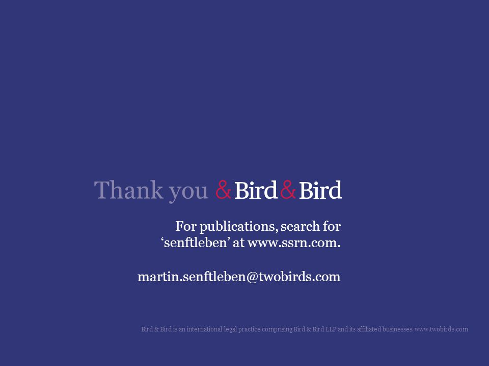 For publications, search for 'senftleben' at www.ssrn.com.