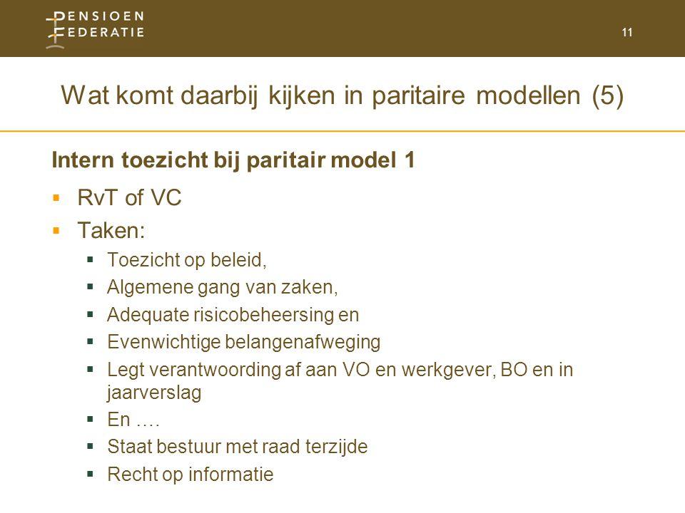 Wat komt daarbij kijken in paritaire modellen (5)