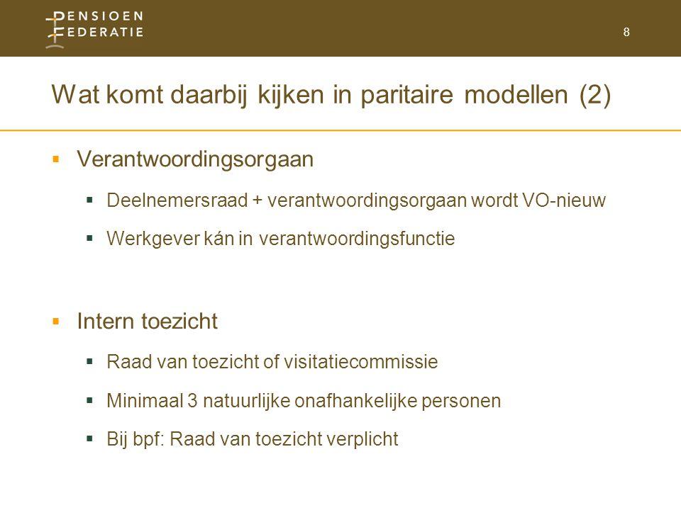 Wat komt daarbij kijken in paritaire modellen (2)