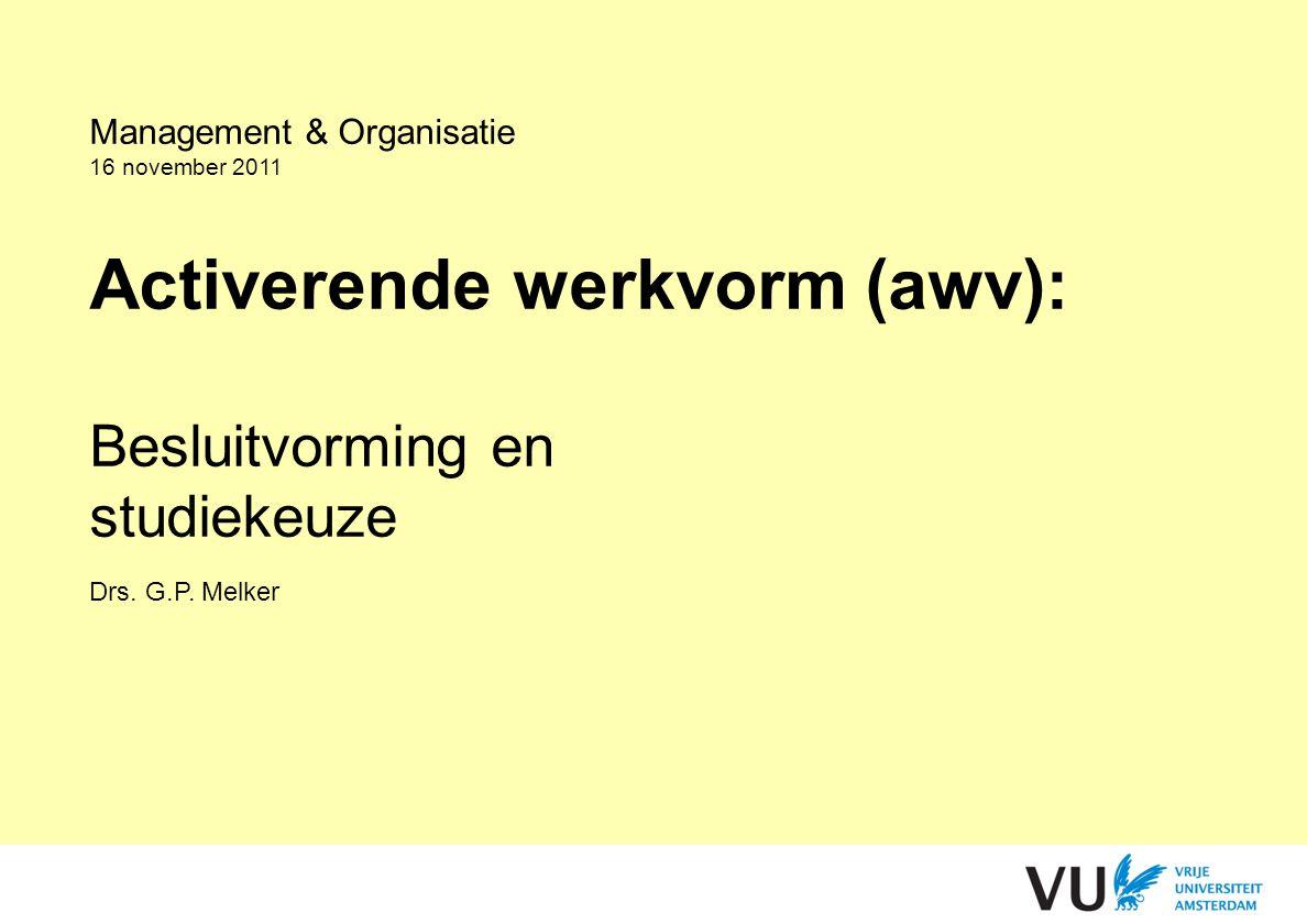 Activerende werkvorm (awv):