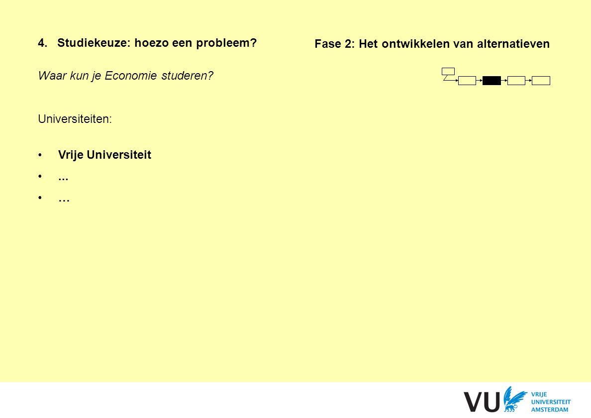 4. Studiekeuze: hoezo een probleem