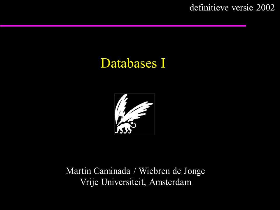 Martin Caminada / Wiebren de Jonge Vrije Universiteit, Amsterdam