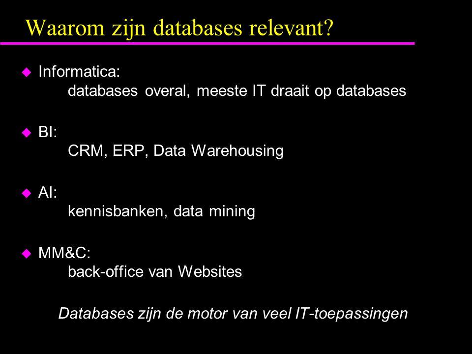 Waarom zijn databases relevant