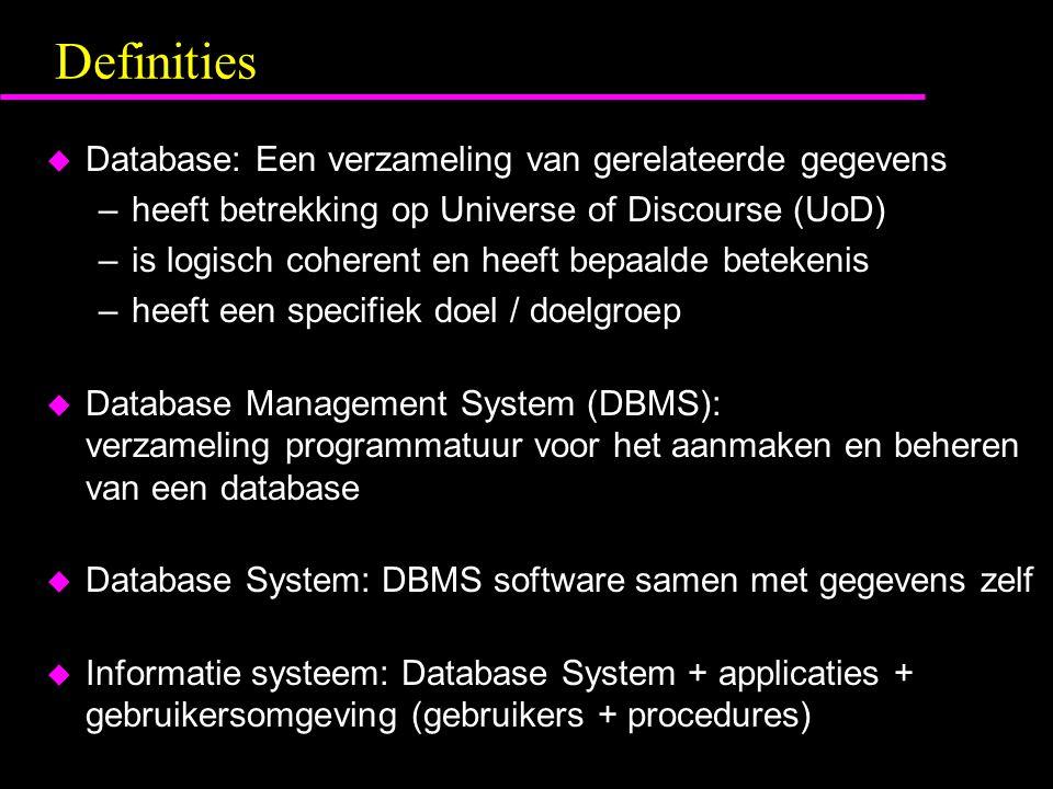 Definities Database: Een verzameling van gerelateerde gegevens
