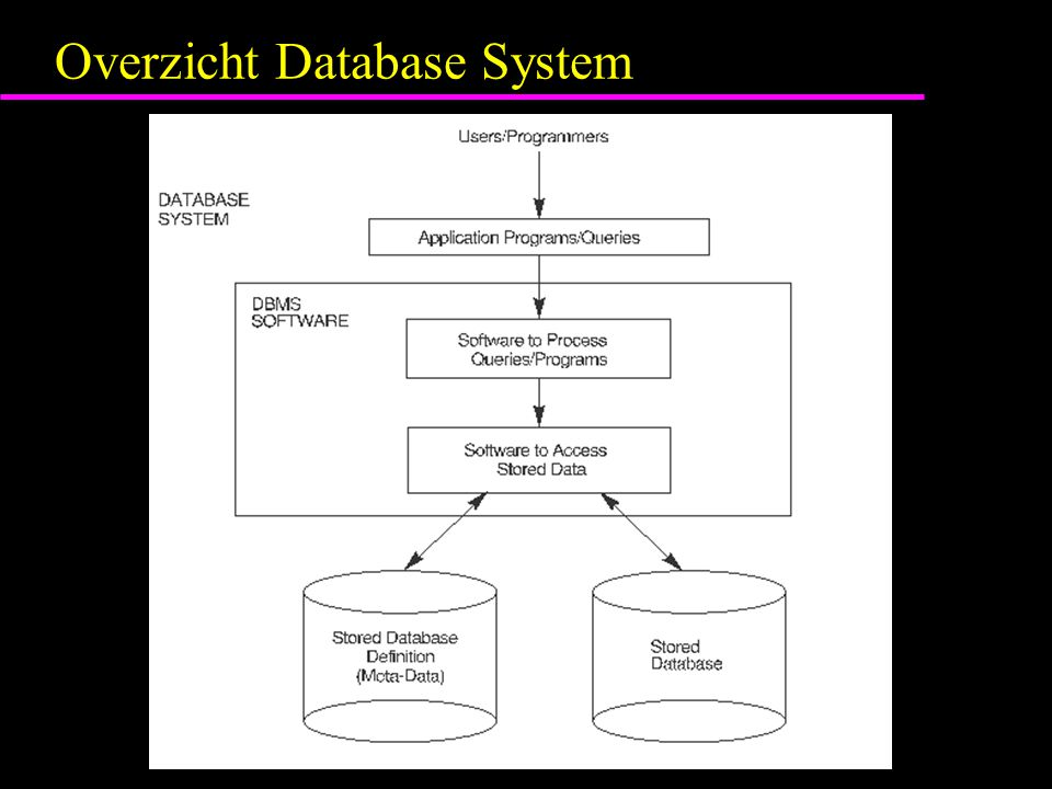 Overzicht Database System