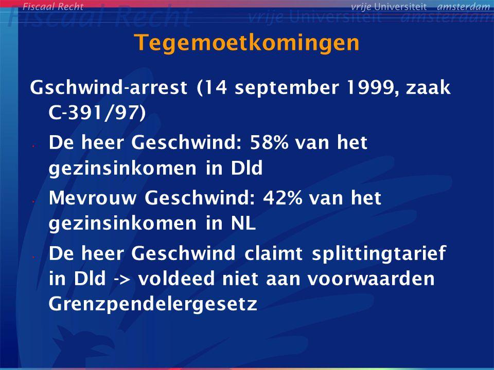 Tegemoetkomingen Gschwind-arrest (14 september 1999, zaak C-391/97)