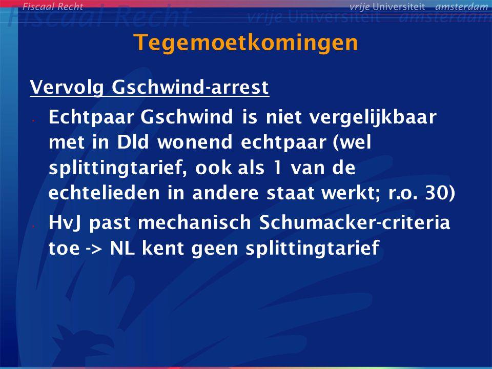 Tegemoetkomingen Vervolg Gschwind-arrest