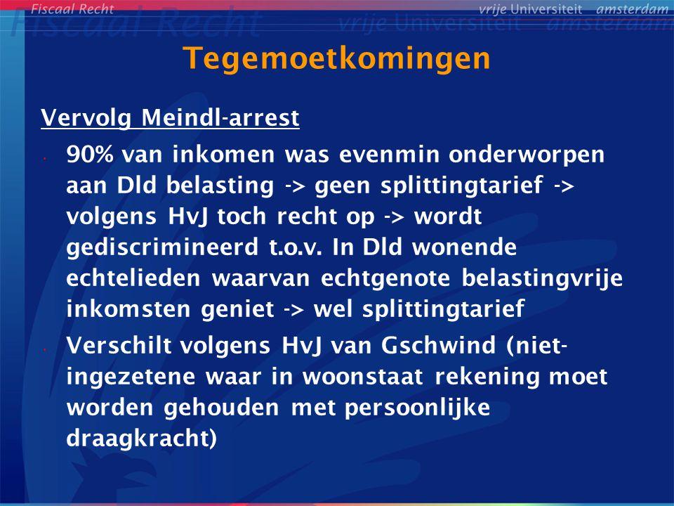 Tegemoetkomingen Vervolg Meindl-arrest
