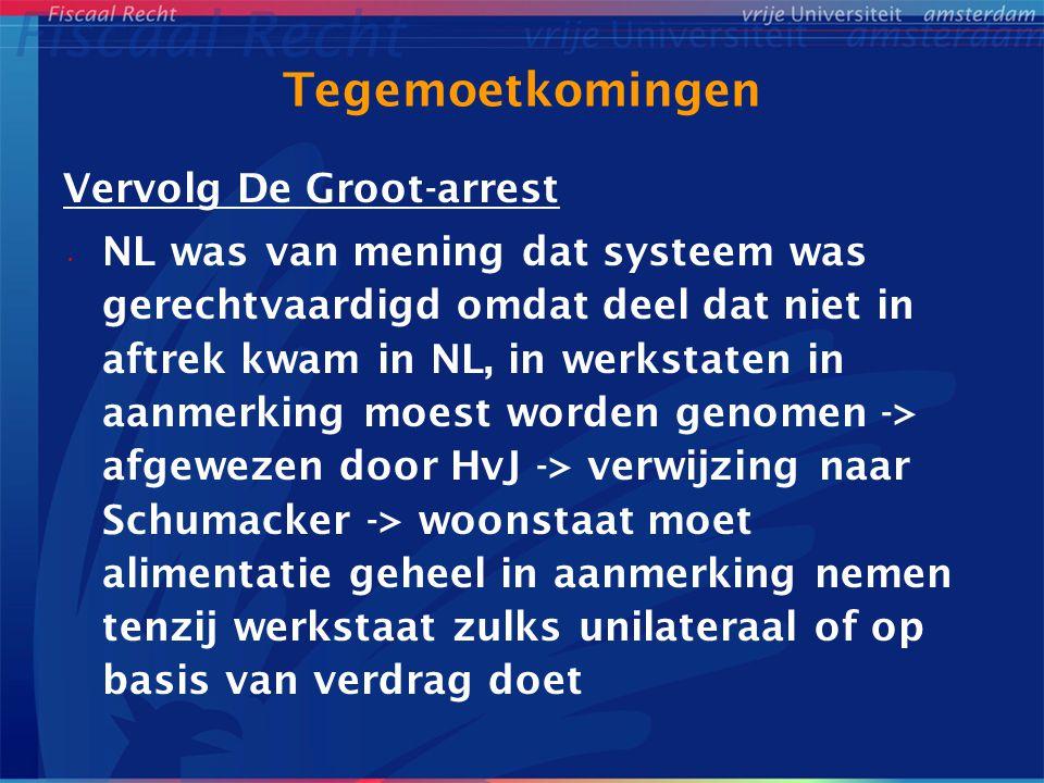 Tegemoetkomingen Vervolg De Groot-arrest
