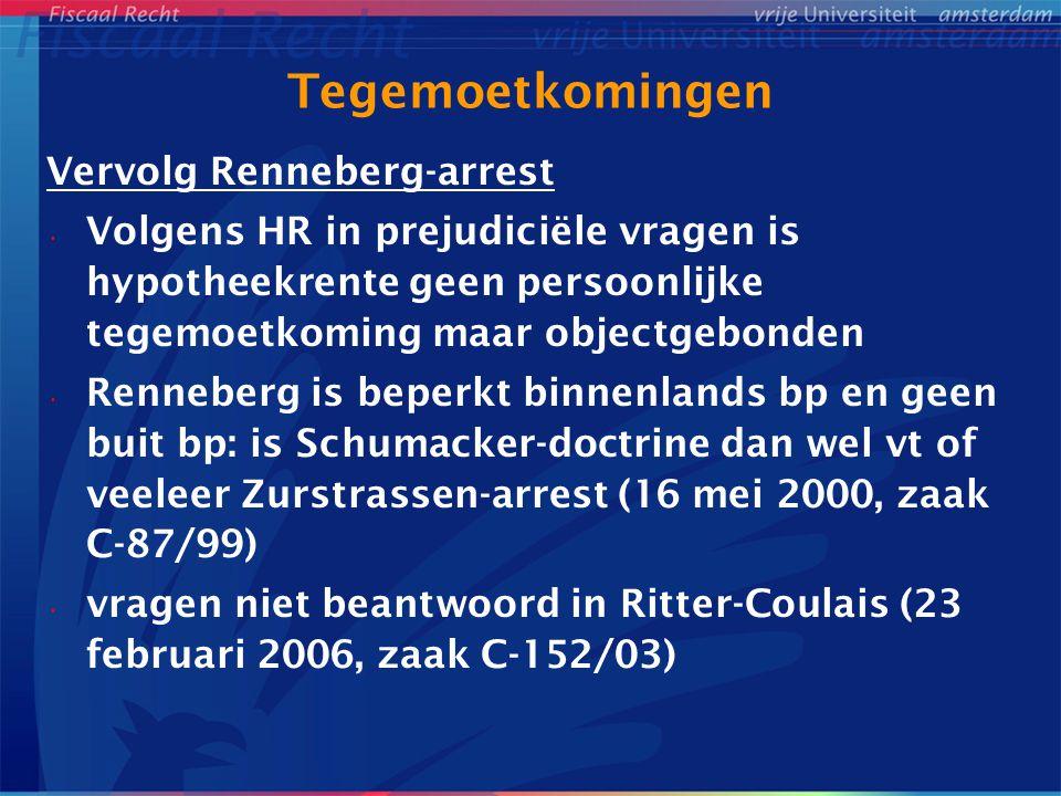 Tegemoetkomingen Vervolg Renneberg-arrest