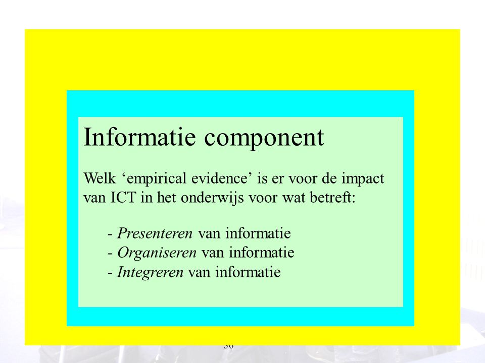 Informatie component Microlevel ICT Information component