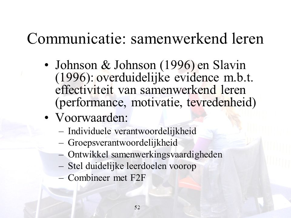 Communicatie: samenwerkend leren
