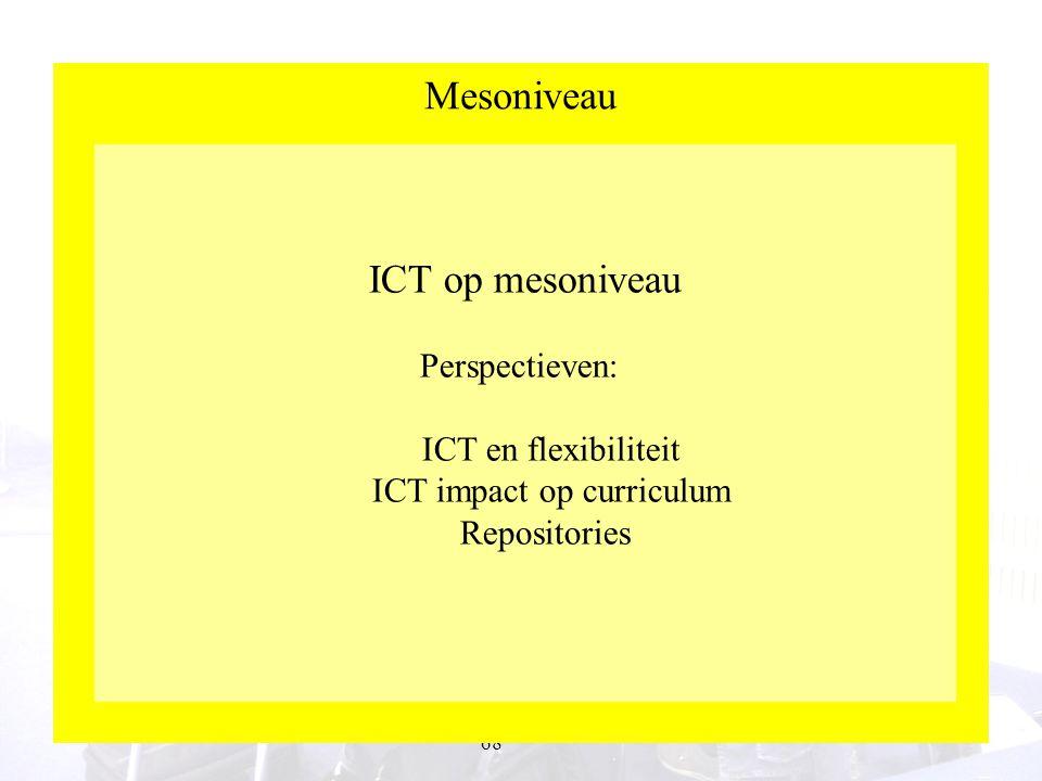 Mesoniveau ICT op mesoniveau