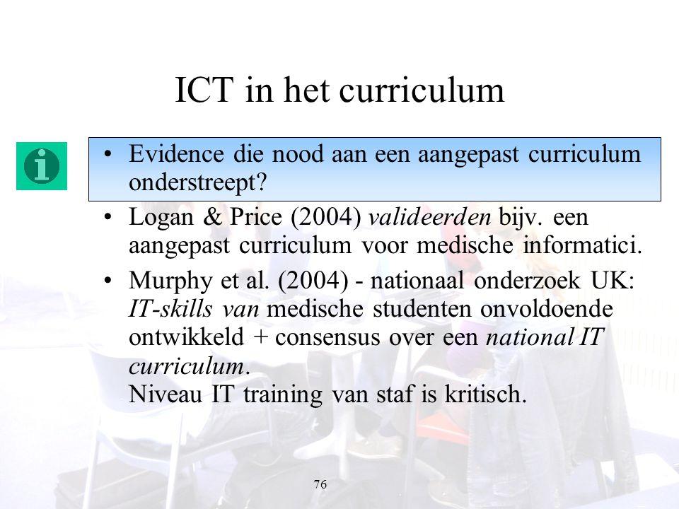 ICT in het curriculum Evidence die nood aan een aangepast curriculum onderstreept