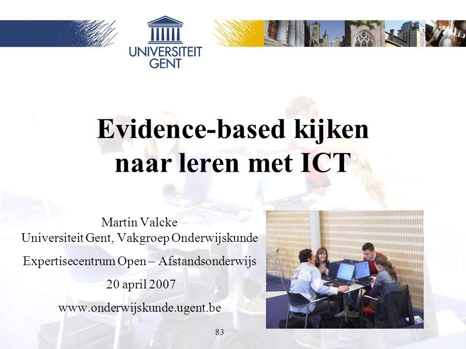 Evidence-based kijken naar leren met ICT