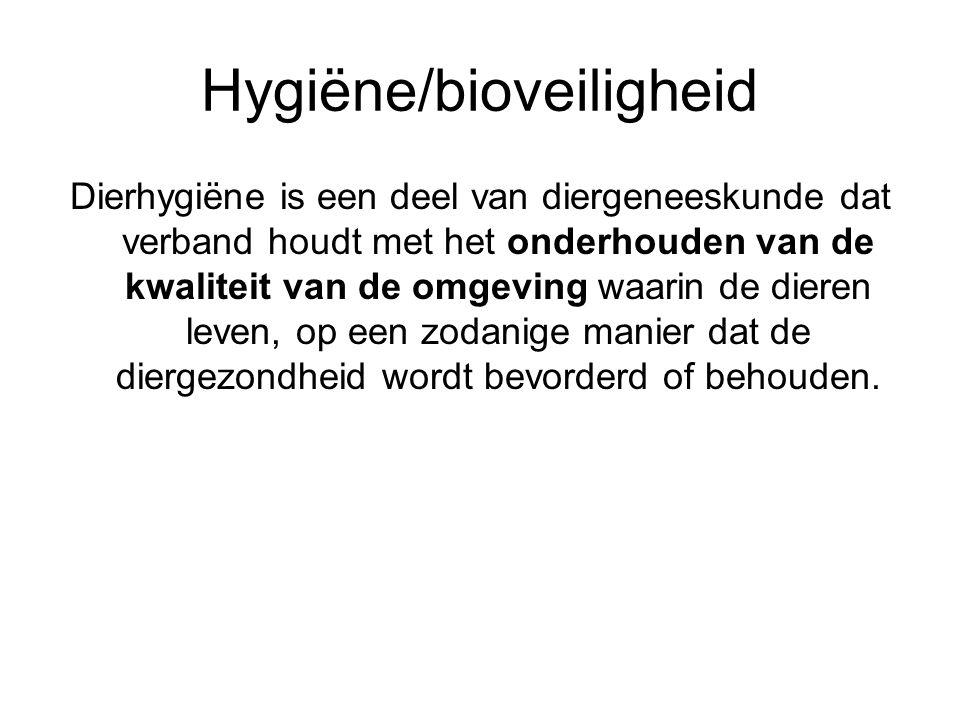 Hygiëne/bioveiligheid