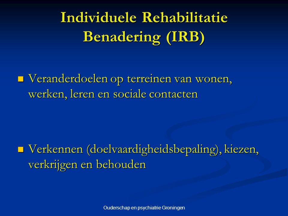 Individuele Rehabilitatie Benadering (IRB)