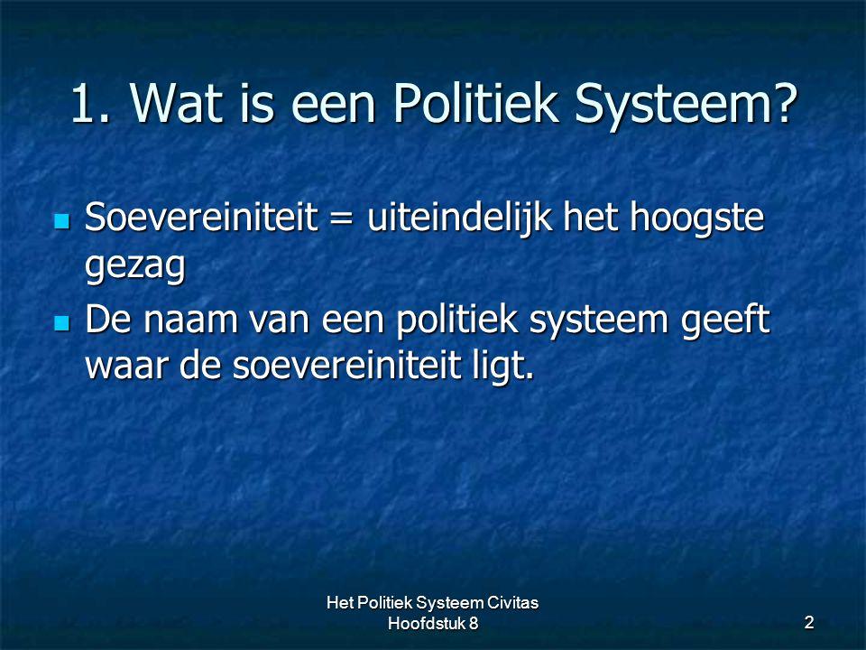 1. Wat is een Politiek Systeem