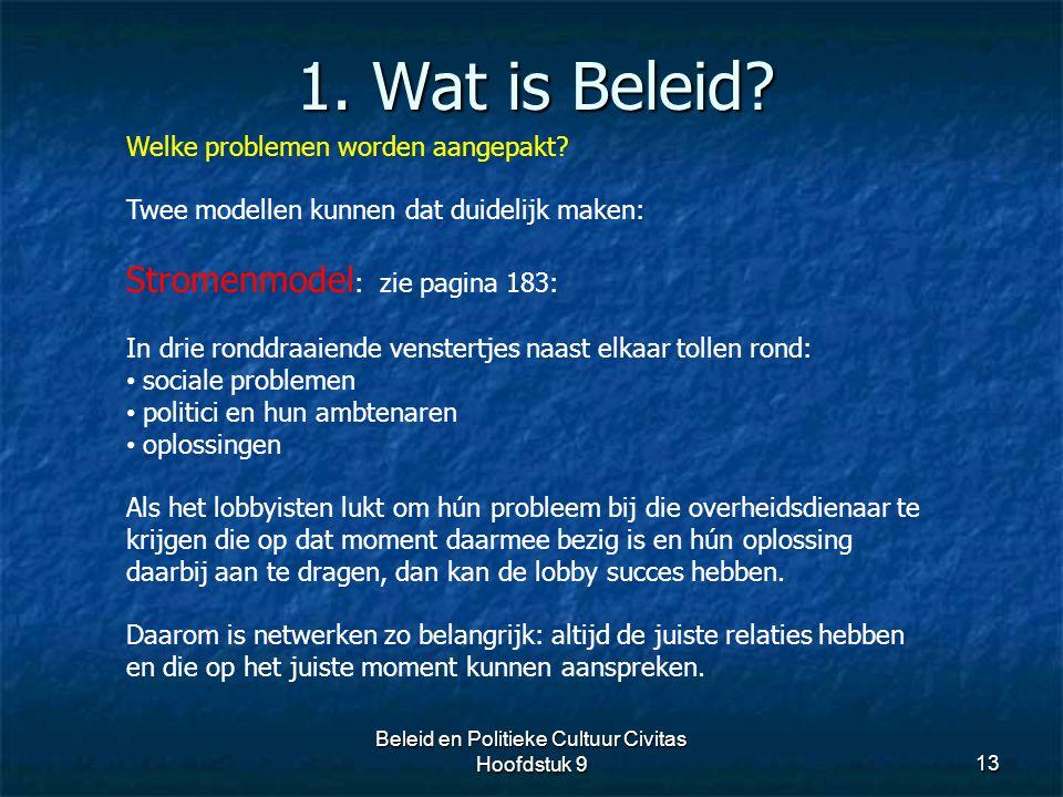 Beleid en Politieke Cultuur Civitas Hoofdstuk 9
