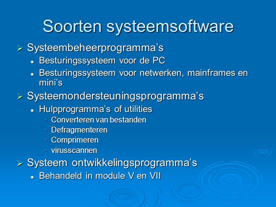 Soorten systeemsoftware