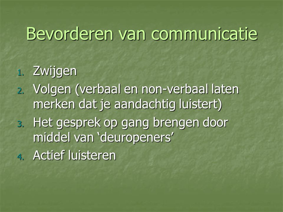Bevorderen van communicatie